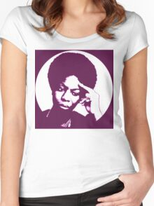 Nina simone - best african singer Women's Fitted Scoop T-Shirt