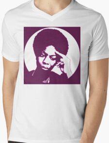 Nina simone - best african singer Mens V-Neck T-Shirt