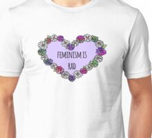 Feminism is Rad Heart - Purple Unisex T-Shirt