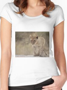 Lion cub with attitude Women's Fitted Scoop T-Shirt