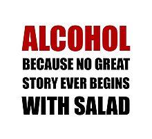Alcohol Salad Photographic Print