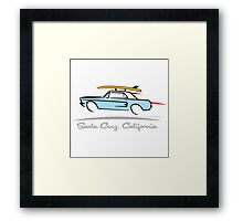 Ford Mustang Gone Surfing in Santa Cruz California Framed Print