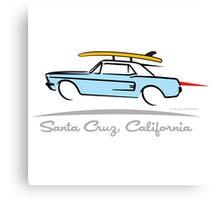 Ford Mustang Gone Surfing in Santa Cruz California Canvas Print