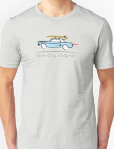 Ford Mustang Gone Surfing in Santa Cruz California Unisex T-Shirt