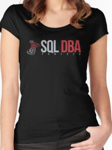 SQL DBA Women's Fitted Scoop T-Shirt