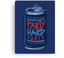 Party Hard Party Canvas Print