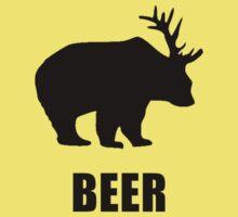 Beer Bear One Piece - Short Sleeve
