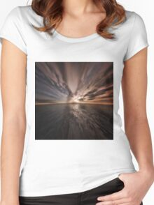 Fantasy Sunset 8 Women's Fitted Scoop T-Shirt