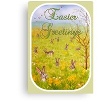 Easter Greetings Canvas Print