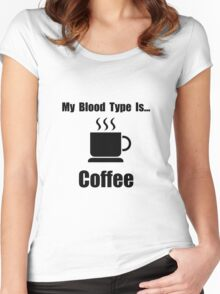 Blood Type Coffee Women's Fitted Scoop T-Shirt
