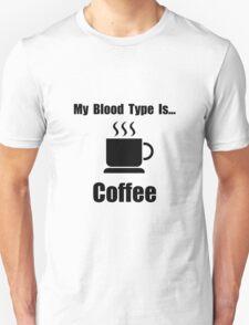 Blood Type Coffee Unisex T-Shirt
