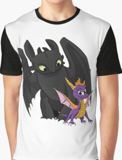 Spyro and Toothless Graphic T-Shirt