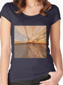 Fantasy Sunset 9 Women's Fitted Scoop T-Shirt