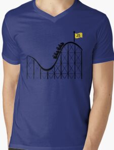 Javascript roller coaster Mens V-Neck T-Shirt