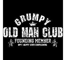 Grumpy Old Man Photographic Print