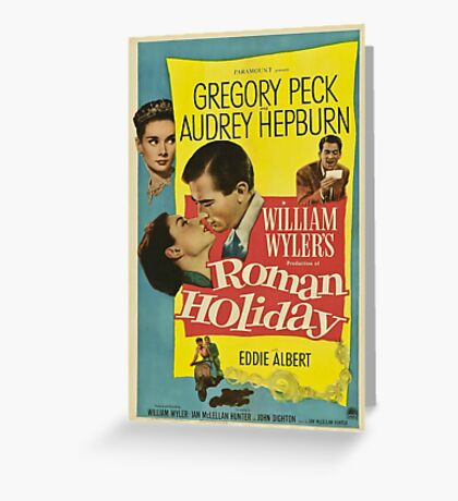 Roman Holiday Vintage Poster Greeting Card