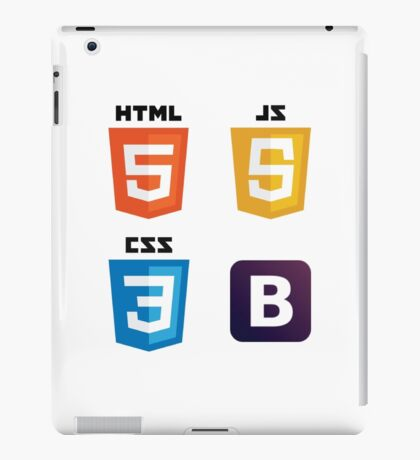 HTML - CSS - JS - Bootstrap iPad Case/Skin