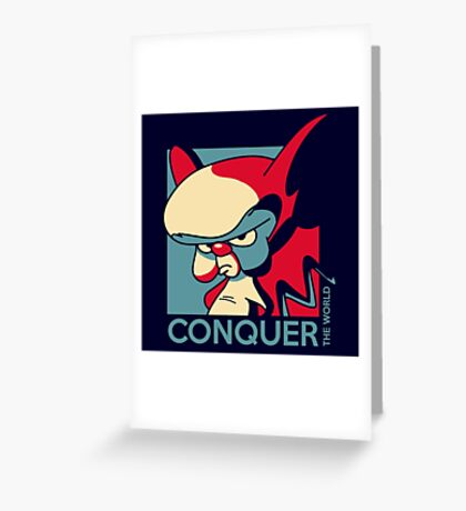 Conquer the World! Greeting Card