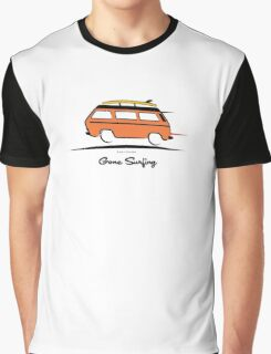 Orange Vanagon Caravelle Bulli Bus Gone Surfing  Graphic T-Shirt