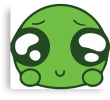 Cute Green Blob Canvas Print