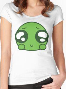 Cute Green Blob Women's Fitted Scoop T-Shirt