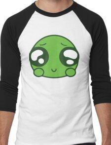 Cute Green Blob Men's Baseball ¾ T-Shirt