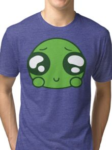 Cute Green Blob Tri-blend T-Shirt