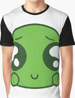Cute Green Blob Graphic T-Shirt