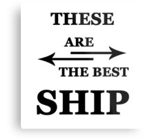 These are the best ship Metal Print
