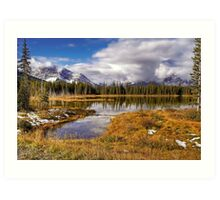 Vermilion Lake and Forest Art Print
