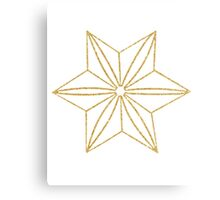 Gold Origami Star Canvas Print