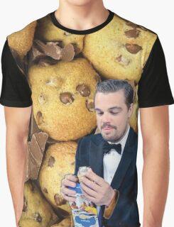 Leonardo DiCaprio Cookie Graphic T-Shirt