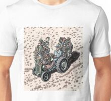 Salesman on Tractor Unisex T-Shirt