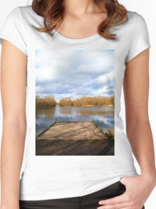 Clouds over the Lake Women's Fitted Scoop T-Shirt