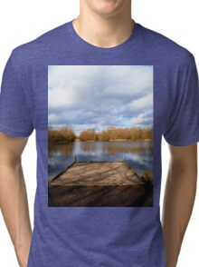 Clouds over the Lake Tri-blend T-Shirt