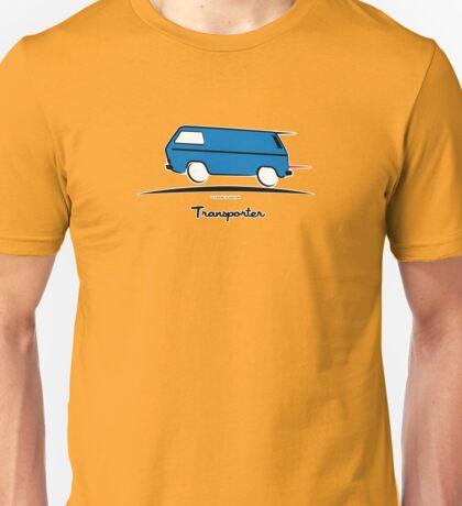 VW Bus Blue Vanagon Caravelle Transporter T3 Unisex T-Shirt