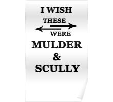 I wish these were Mulder and Scully Poster