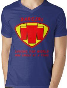 Bargirl Mens V-Neck T-Shirt