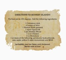 Directions to monkey island One Piece - Short Sleeve