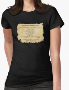 Directions to monkey island Womens Fitted T-Shirt