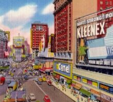 Fifties Style Times Square by day New York City Sticker