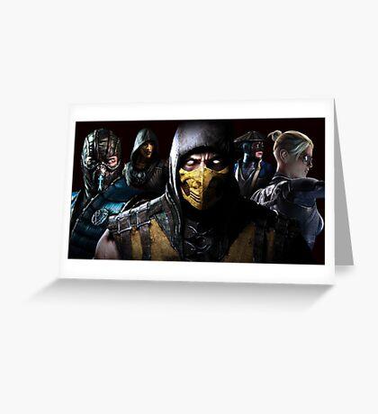 Mortal Kombat X Greeting Card