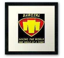 Bargirl Framed Print