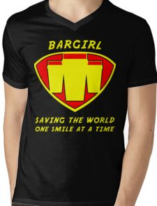 Bargirl Mens V-Neck T-Shirt
