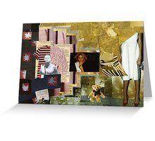 collage number 35 Greeting Card