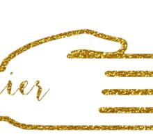 Gold Glitter Rock Paper Scissors Sticker