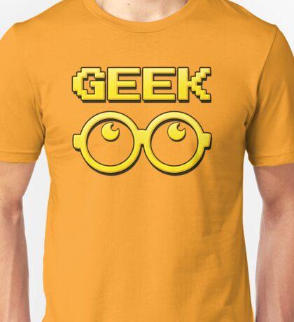 Cartoon GEEK Pixels Glasses T Shirt Unisex T-Shirt