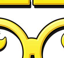 Cartoon GEEK Pixels Glasses T Shirt Sticker