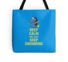 Keep Calm and just Keep Swimming Tote Bag