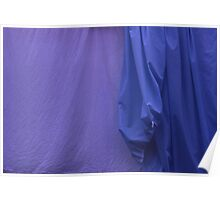 Two Sheets Abstract Purple & Blue Poster
